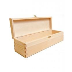 Natūralaus medžio dėžutė vynui