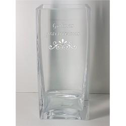 Stiklinė vaza Kvadratinė