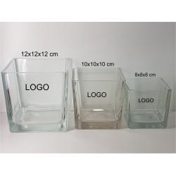 Stiklinė vaza LOTTY, kvadratinė, 8 x 8 cm