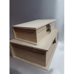 Knygos - dėžutės iš natūralaus medžio