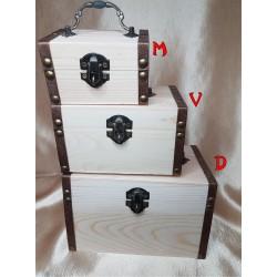 Taupyklė - dėžutė iš natūralaus medžio 3 in 1