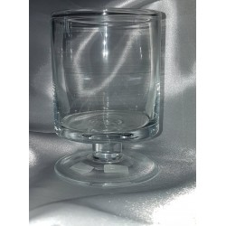 Stiklinė vaza - taurė 16x10