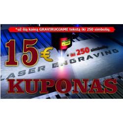 GRAVIRAVIMAS LAZERIU KUPONAS - paslauga 15,00 € sumai