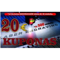 GRAVIRAVIMAS LAZERIU KUPONAS - paslauga už 20,00 €