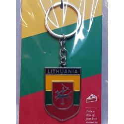 Suvenyras - metalinis raktų pakabukas LITHUANIA su Vyčiu