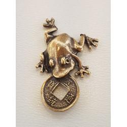 Rupūžė su moneta - metalinė