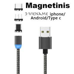 Magnetinis USB įkrovimo kabelis